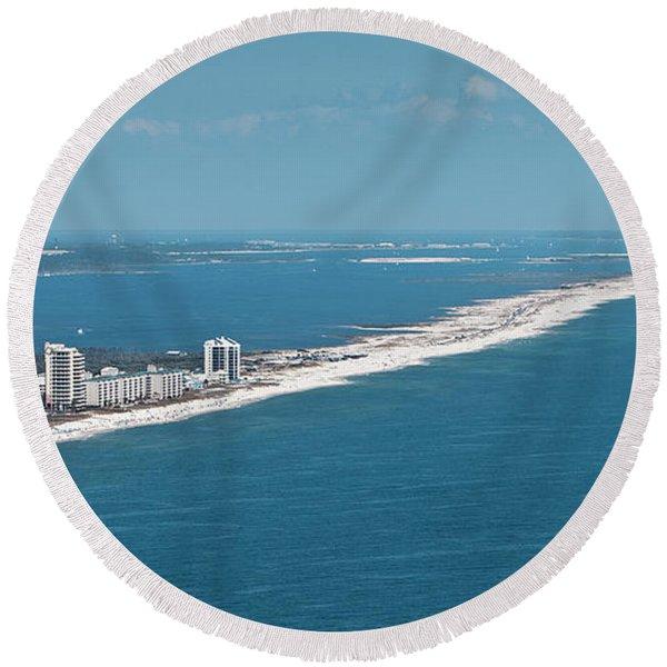 Johnson Beach Round Beach Towel