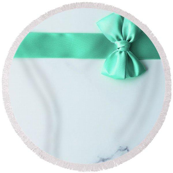Lovely Gift I Round Beach Towel