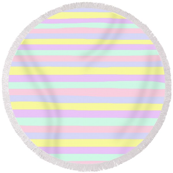 lumpy or bumpy lines abstract - QAB283 Round Beach Towel