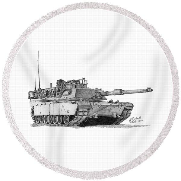 M1a1 A Company 2nd Platoon Commander Round Beach Towel