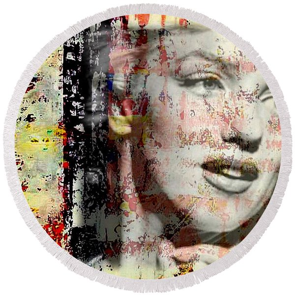 Marilyn Monroe 2 Round Beach Towel