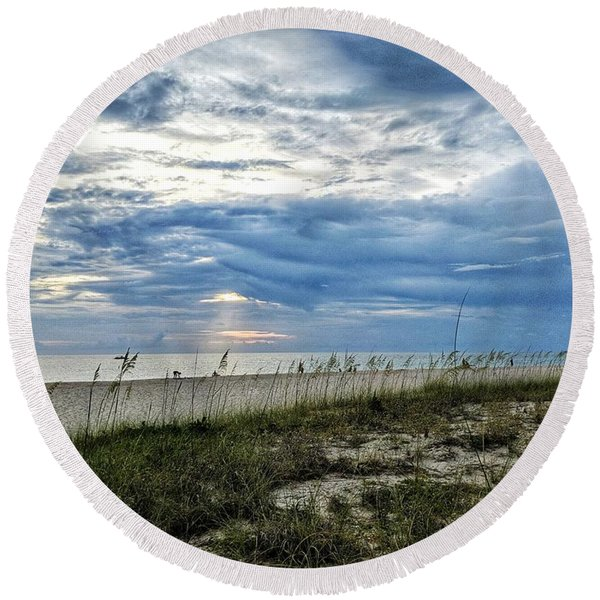 Moments Like This Round Beach Towel