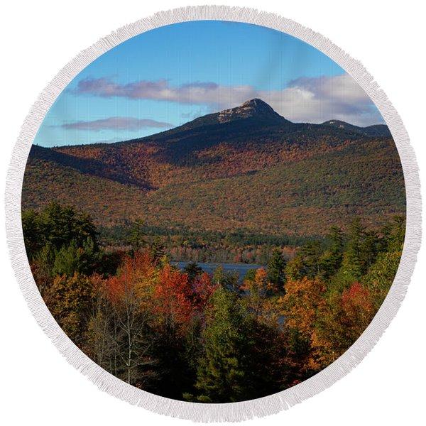 Mount Chocorua New Hampshire Round Beach Towel