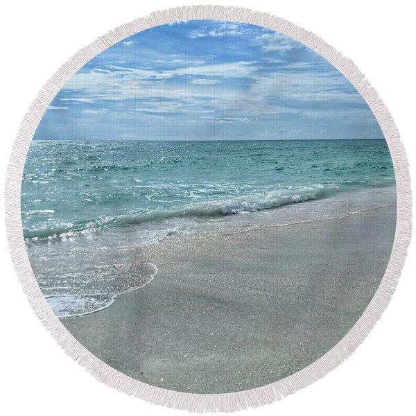 Needs Footprints Round Beach Towel