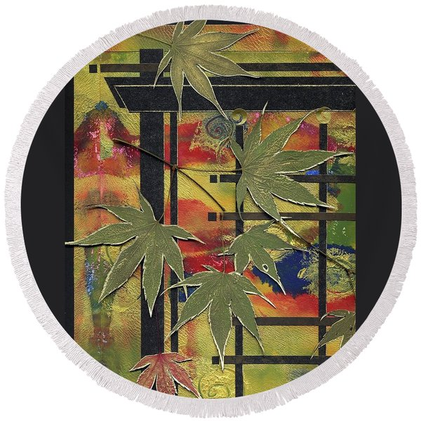New Path Round Beach Towel