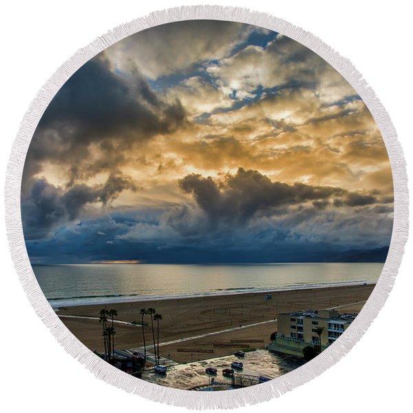 New Sky After The Rain Round Beach Towel