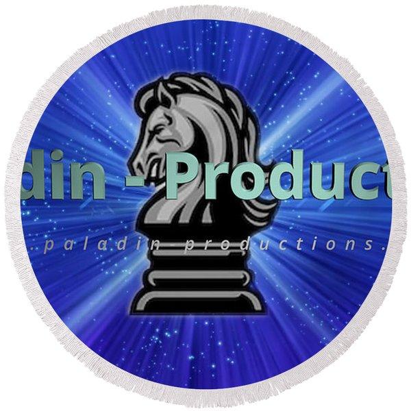 Paladin Productions Logo Round Beach Towel