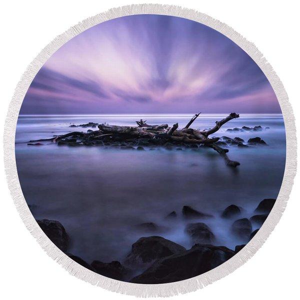 Pastel Tranquility Round Beach Towel