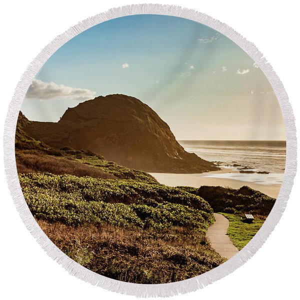 Pathway To Goodtimes Round Beach Towel