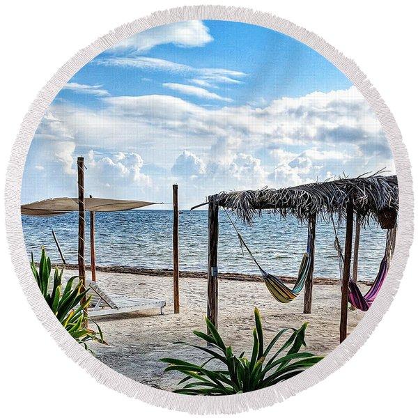 Perfect Getaway Round Beach Towel