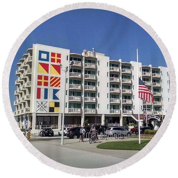 Port Royal Hotel Wildwood Nj 2019 Round Beach Towel