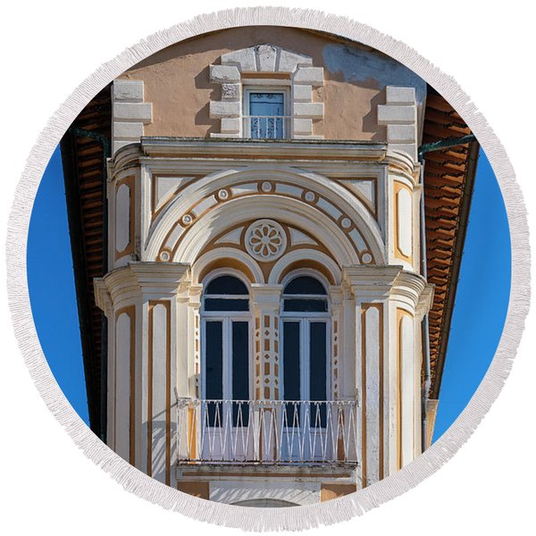 Portoferraio Architecture Round Beach Towel
