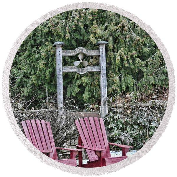 Prop Chairs Round Beach Towel