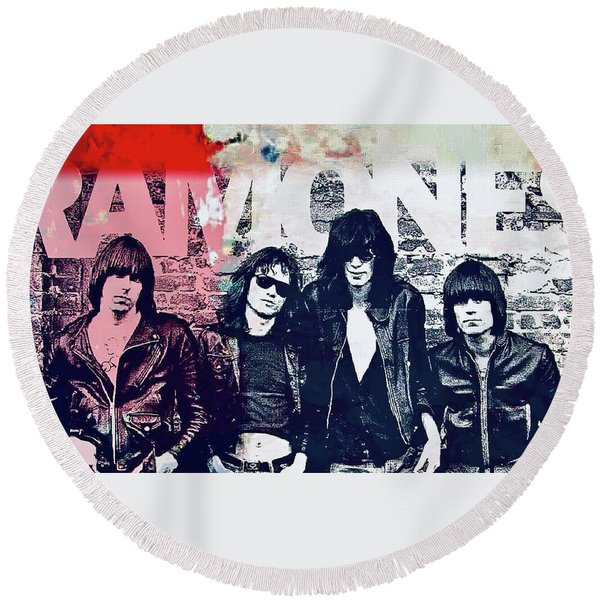 Ramones Round Beach Towel