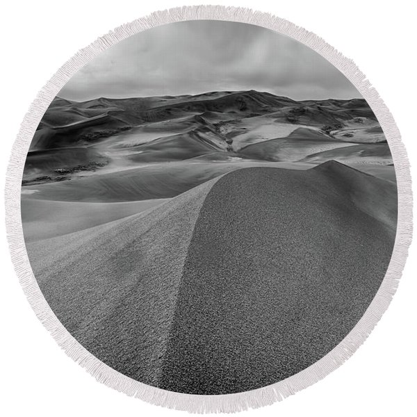 Sand Dune Ridge Round Beach Towel