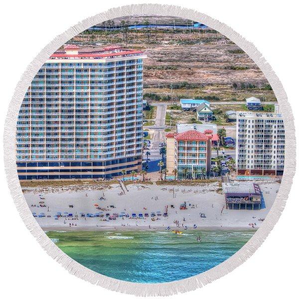 Sea Winds  Sea N Suds Round Beach Towel