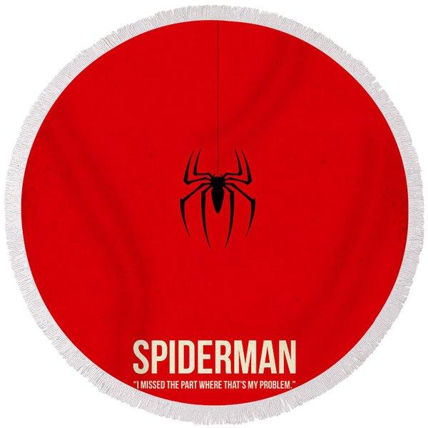 Spider-man Round Beach Towel