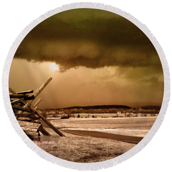 Storm Brewing Round Beach Towel
