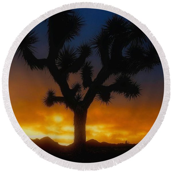 Stormy Sunrise Round Beach Towel