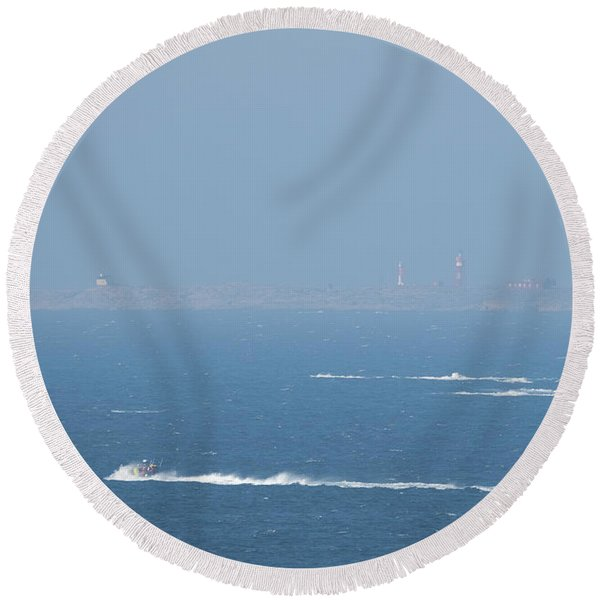 The Coast Guard's Rib Round Beach Towel