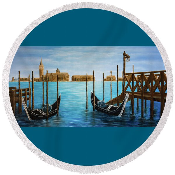 The Venetian Phoenix Round Beach Towel