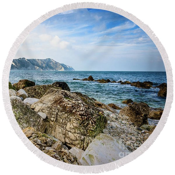 The Winter Sea #1 Round Beach Towel