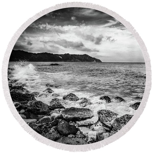 The Winter Sea #4 Round Beach Towel