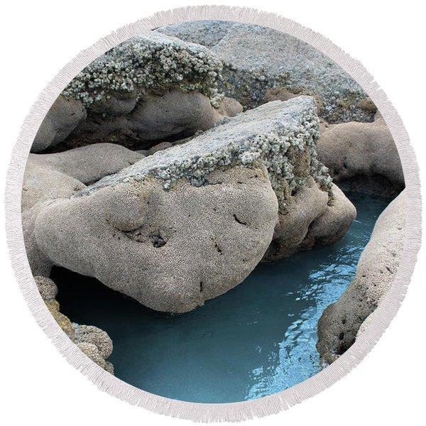 Round Beach Towel featuring the photograph Tidal Pool 1 by Megan Dirsa-DuBois