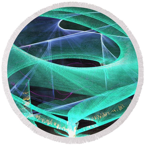 Round Beach Towel featuring the digital art Vibes by Gerlinde Keating