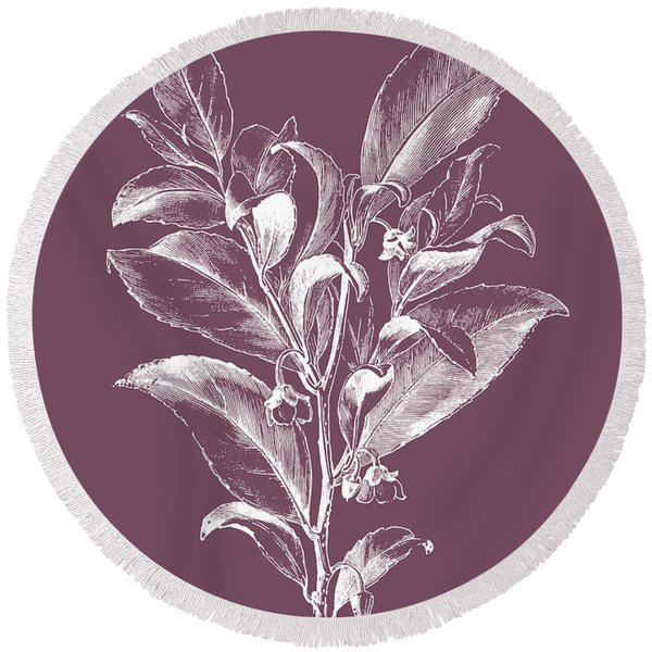 Visnea Mocanera Purple Flower Round Beach Towel