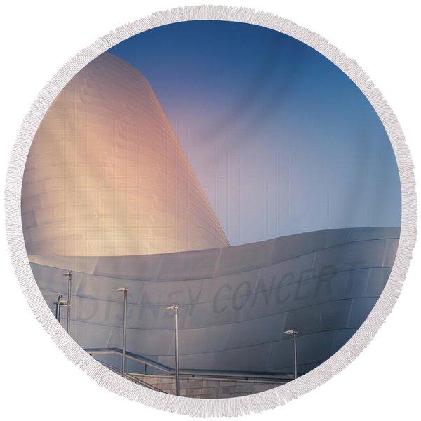 Walt Disney Concert Hall, California Round Beach Towel