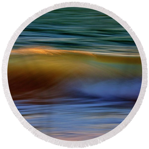 Wave Abstact Round Beach Towel