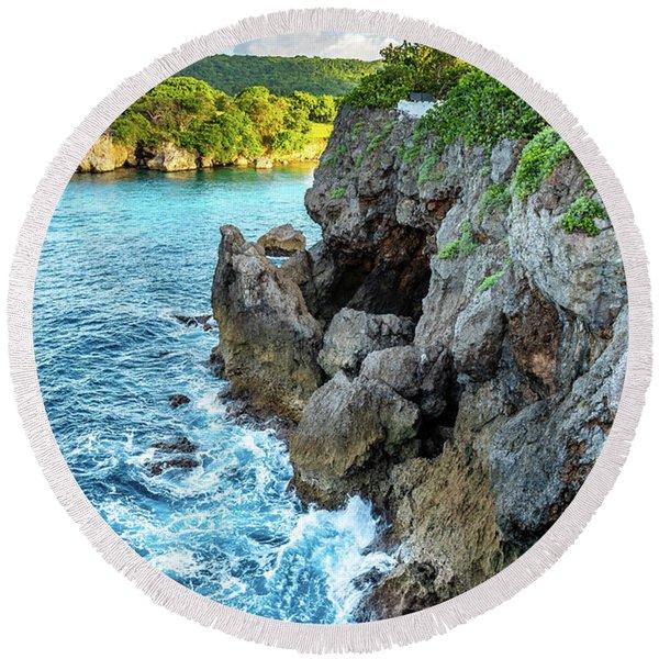 Welcome To Portland Jamaica Round Beach Towel