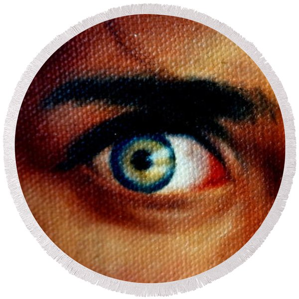 Windows To The Soul Round Beach Towel