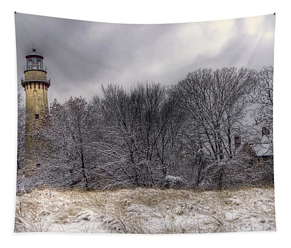 0243 Grosse Point Lighthouse Evanston Illinois Tapestry