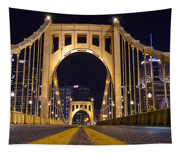 0304 Roberto Clemente Bridge Pittsburgh Tapestry