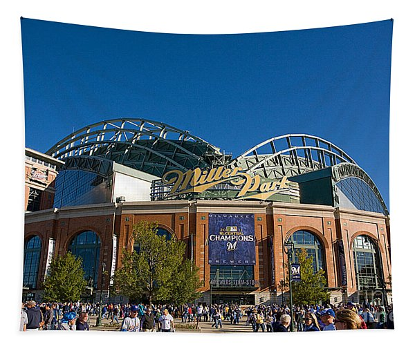 0386 Miller Park Milwaukee Tapestry
