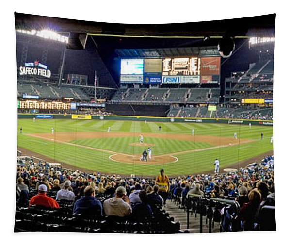 0434 Safeco Field Panoramic Tapestry