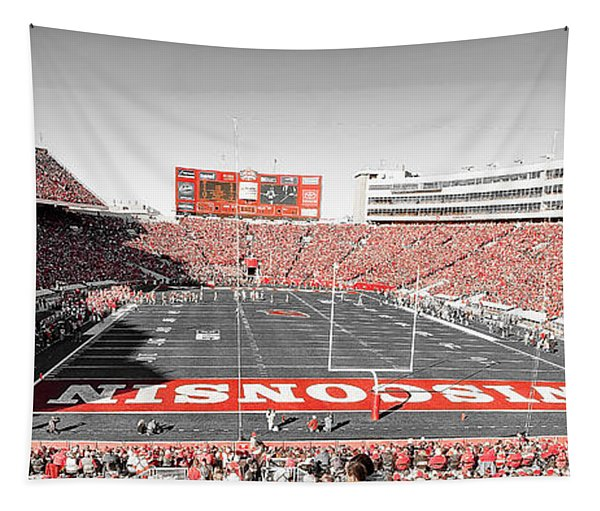 0813 Camp Randall Stadium Panorama Tapestry
