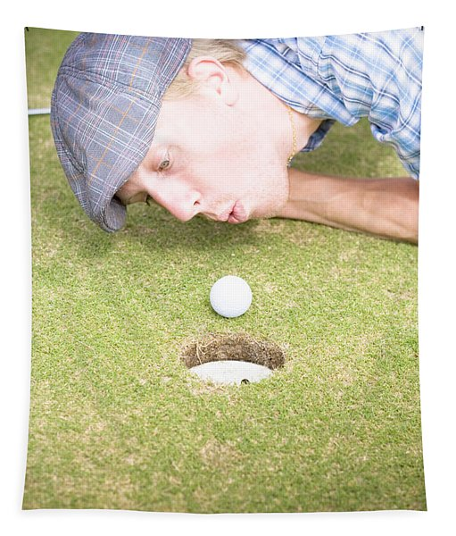 Golf Cheating Tapestry