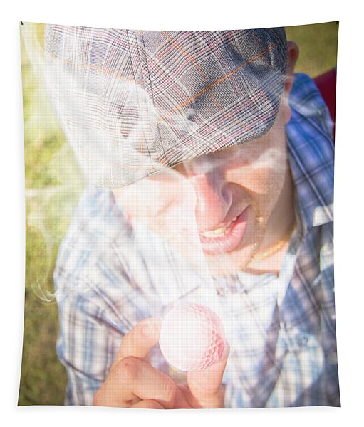 Hot Golf Tapestry