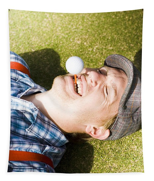 Insane Sport Nut Crazy About Golf Tapestry