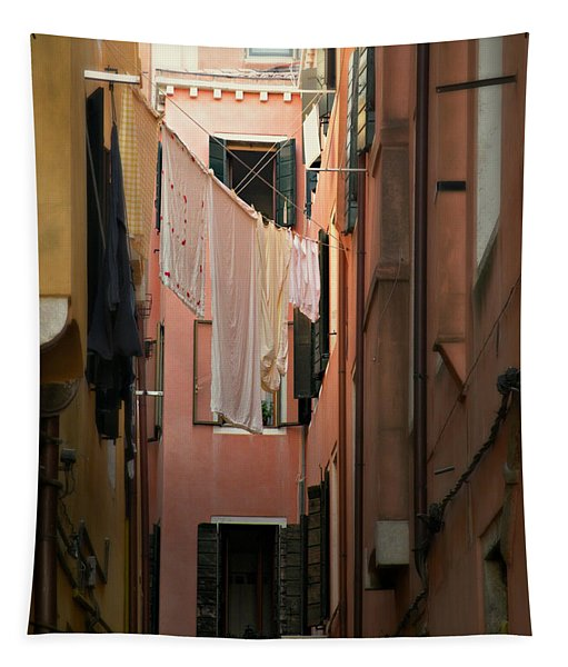 Laundry Day In Venice Tapestry