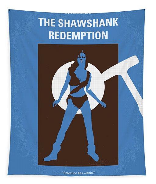 No246 My The Shawshank Redemption Minimal Movie Poster Tapestry