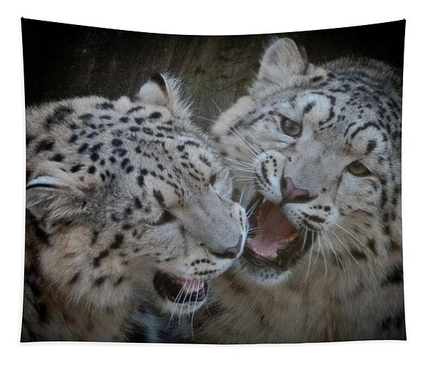 Snow Leopard Cubs Tapestry