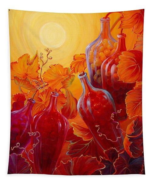 Wine On The Vine II Tapestry