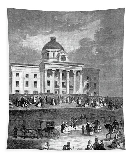 1800s 1860s February 18 1861 Jefferson Tapestry