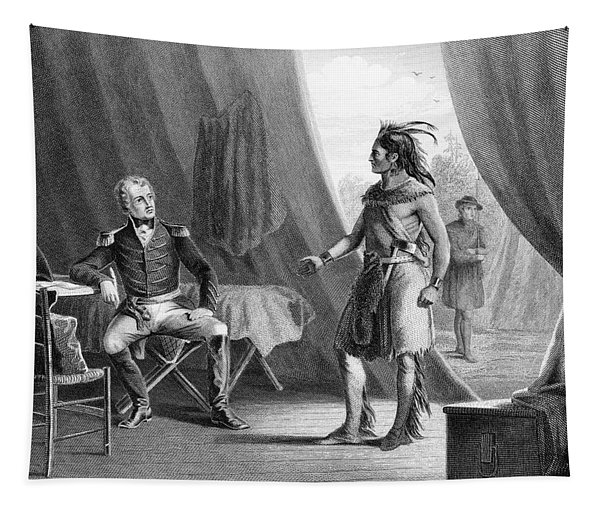 1814 General Andrew Jackson & Red Eagle Tapestry