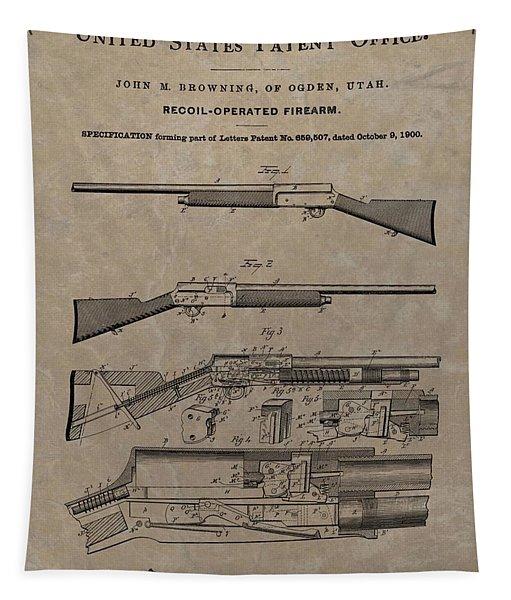 1900 Firearm Patent  Tapestry
