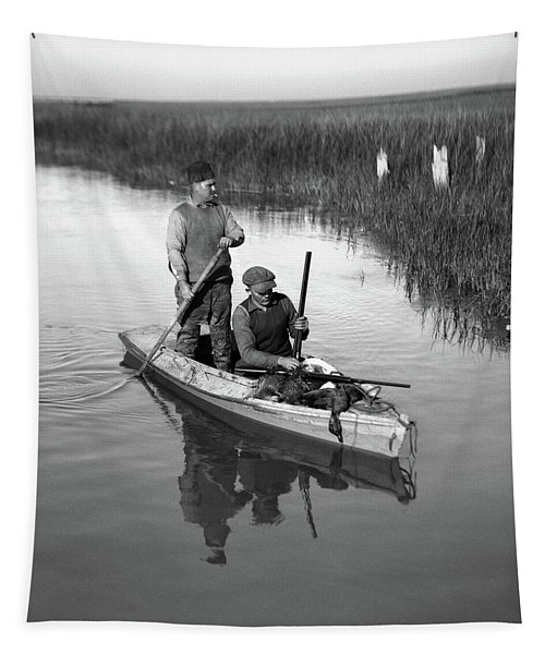 1920s Two Men Duck Hunters Tapestry
